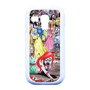 You Worth Own Cartoon Funny Little Mermaid Princesses Zombie Style Best Protective Hard Plastic cover ,TPU Phone case for Samsung Galaxy S3 Mini i8190,white