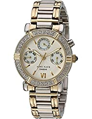 Anne Klein Womens 10-7899MPTT Diamond Accented Multi-Function Two-Tone Watch