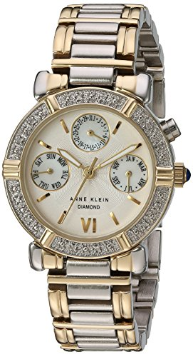 Anne Klein Swiss Watches (Anne Klein Women's 10-7899MPTT Diamond Accented Multi-Function Two-Tone)