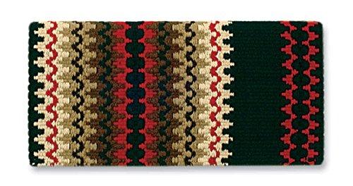 Mayatex Corona Saddle Blanket, Black/Red Earth/Sand/Umber, 38 x ()