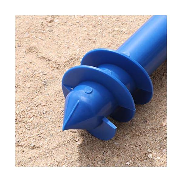 Yardwe Picchetto di Supporto per ombrellone Mare Spiaggia in plastica Porta ombrellone da Spiaggia per resistere a Forti… 5 spesavip