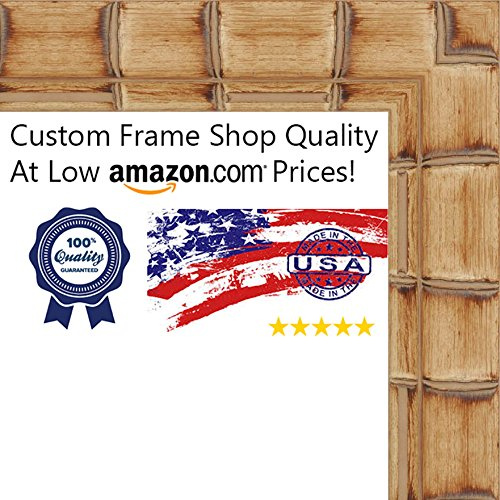 12x17 Bamboo Natural Wood Picture Frame - UV Acrylic, Foa...