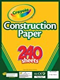 Crayola Construction Paper, 240 Count, Assorted Colors