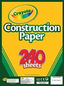 Crayola 240 Ct. Construction Paper