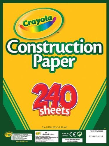 Crayola Construction Paper, 240 Count, Assorted Colors -