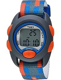 Timex - Reloj digital para niños, gris/azul/rojo