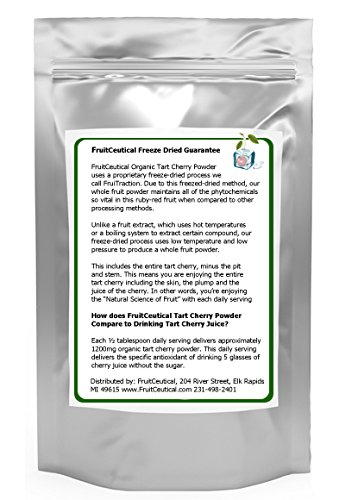 FruitCeuticals Organic Tart Cherry Whole Fruit Powder (Not an Extract) Satisfaction Guaranteed 2 Pouches