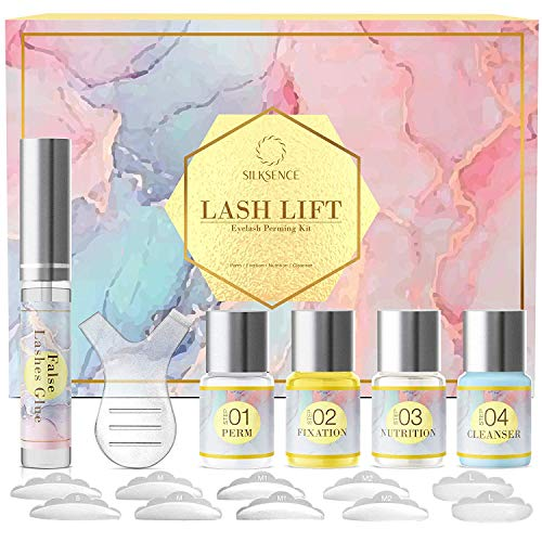 Silksence Lash lift Kit, Eyelash Perm Kit,Professional Semi-Permanent Curling Perming Wave Suitable For Salon