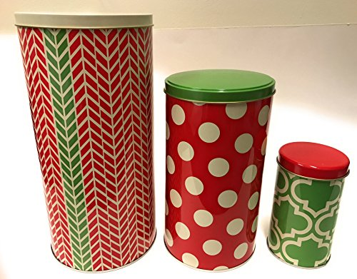 Decorative Holiday Tins Set of 3 Nesting Tins Very Cute Holiday Themes and Great Quality - HOT ITEM WITH LIMITED (Nesting Tins)