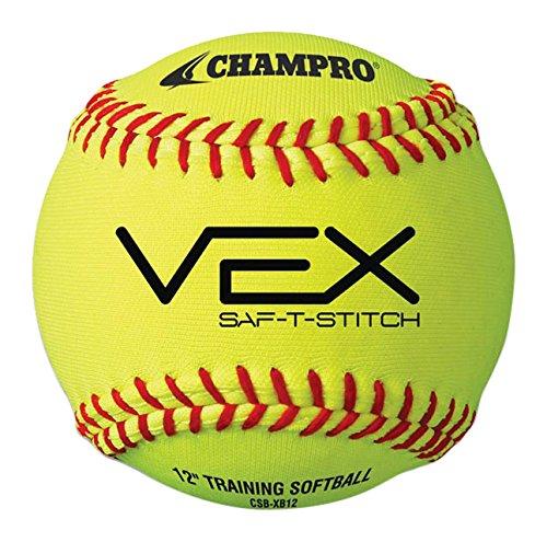 Champro Vexトレーニングソフトボール B00IFBFVRI Champro Vex Training Softball, Optic Yellow, 11