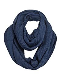 FORBUSITE Knit Winter Infinity Scarf for Men E5081b (Blue)