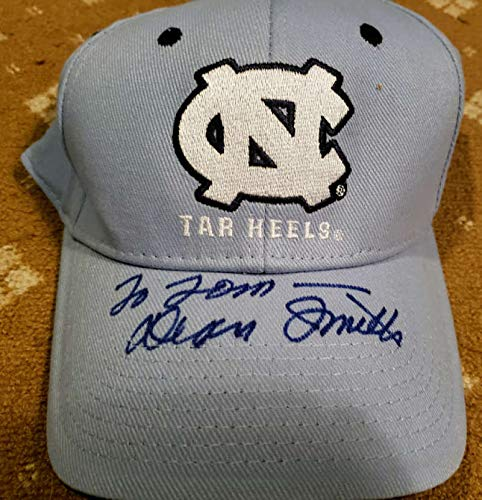 DEAN SMITH JSA Coa Autograph North Carolina Hat Hand Signed Authentic