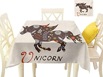 Amazon com: familytaste Wrinkle Free Tablecloths Unicorn