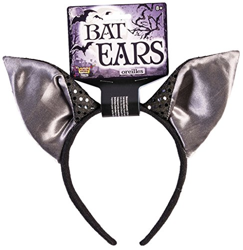 Forum Novelties 78929 Unisex-Adults Bat-Ears-Headband, Black Color, Standard, Multicolor, Pack of 1 -