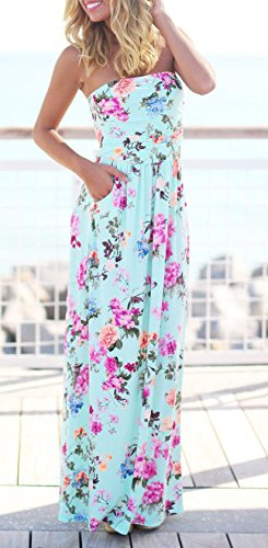 buona qualità salvare seleziona per genuino Donna Vestito Lunghi Eleganti Estivi Moda Abiti Fiore ...