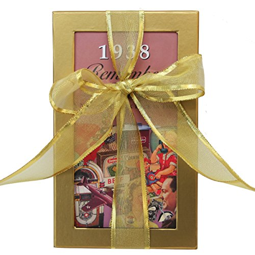 80th Birthday Gift Basket Box with 1938 Trivia Booklet