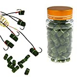 80pcs in 1 Bottle Green Grass Carp Baits Fishing Lures Fishing Baits
