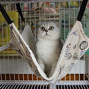 Whitelotous Pet Hammock Cat Bed Cat Mat Cat Litter Cat Favorite