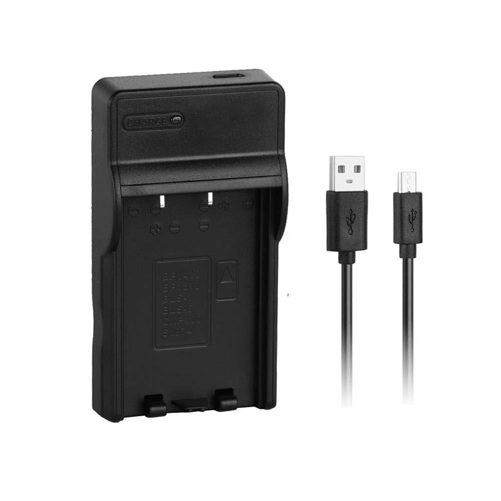 E-400 E-P2 E-620 OM-D E-M10 E-450 E-P3 BLS-1//BLS-5 Cargador R/ápido de Repuesto USB para Olympus PS-BLS1 BLS-50 E-PL7 y M/ás Cargador R/ápido Pluma E-PL2 E-PL5 Bater/ía PS-BLS5 E-PL6