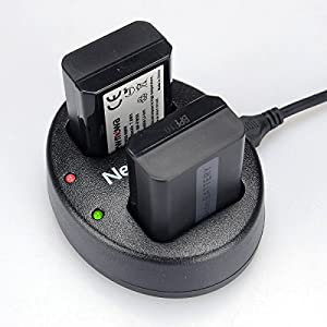 Newmowa Dual USB Charger for Sony NP-FW50 and Alpha a3000, Alpha a5000, Alpha a6000, A6300,Alpha 7, a7, Alpha 7R, a7R