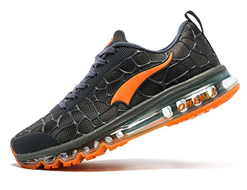 ONEMIX Men's Lightweight Air Cushion Sport Running Shoes Blue/Orange authentic for sale top quality RCNvj