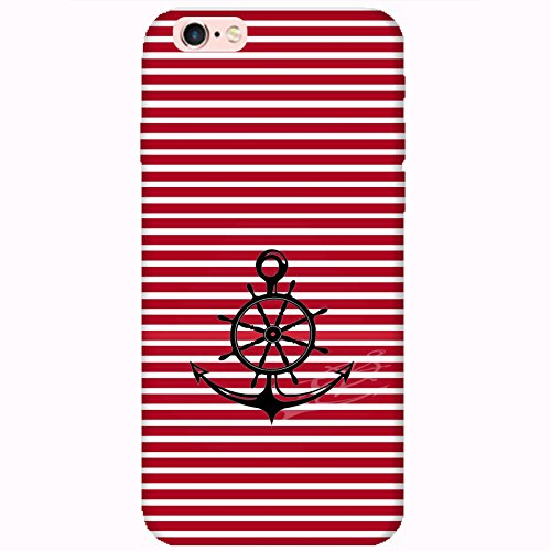 Coque Apple Iphone 6-6s - Ancre Barre Marine rouge