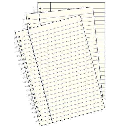 Genuine Wire-O-Notebook Silver Edge Refills for 9-in Journals Large by Graphic ImageTM Set of 3 -