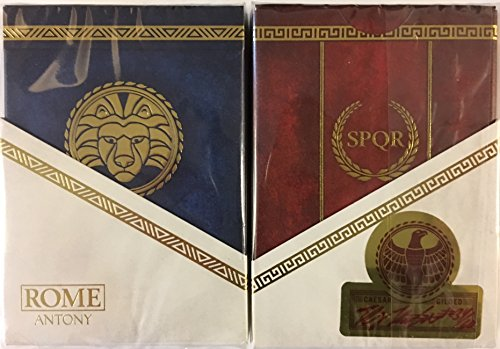 ROME: Antony & Caesar 2 Deck Set Playing Cards Poker Size LPCC Gilded Edition by Midnight Cards