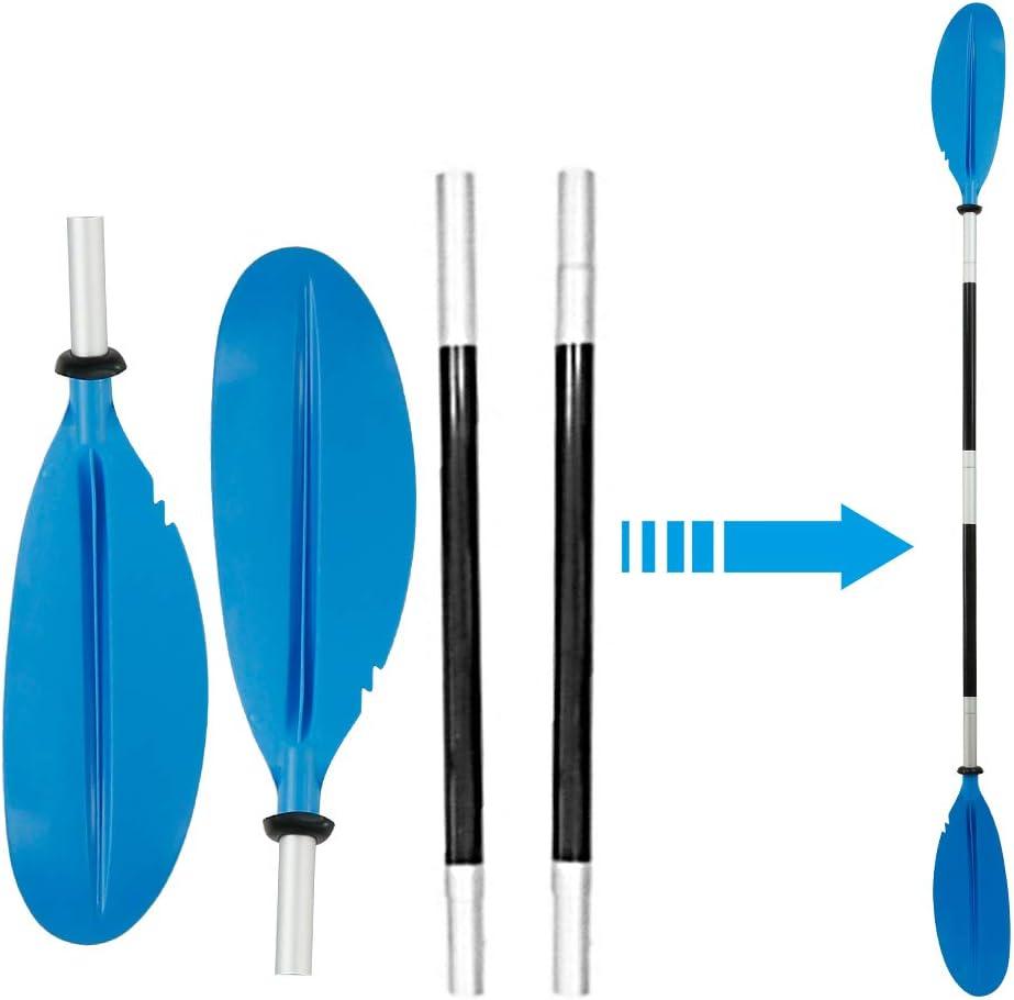Pagaie de Kayak Rame en Aluminium Robuste et Fiable pour Cano/ë Kayak Judy1980 220cm Pagaies de Canoe /à Double T/ête D/émontable