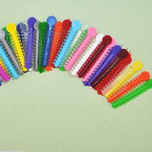 Finelon - Lazos dentales de goma elástica para tratamiento ortopédico (1014 piezas, multicolor)