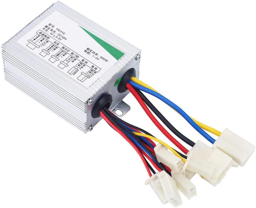 Controlador Cepillo para Acelerador de Puño, Centralita 48V 500W para Motor