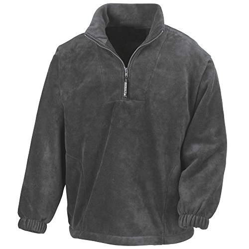 Mens Zip Grey Jackets Result Active Half Fleece Oxford qdFF1fwt