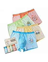 Boys' Boxer Briefs Animal Short Underwear Comfort Boxers Pack of 4