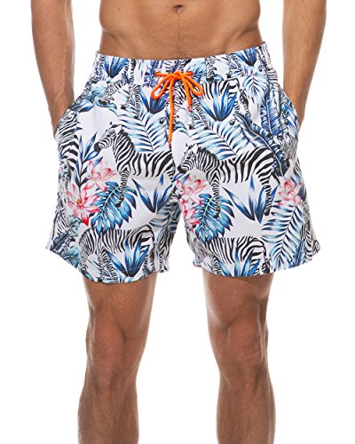 Tyhengta Mens Swim Trunks Quick Dry Bathing Suit Shorts Blue