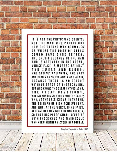 Famous Speeches on Canvas, The Man In The Arena, I Have A Dream, Song Lyrics, Words to live by, Values, Inspirational Art, Motivational Art