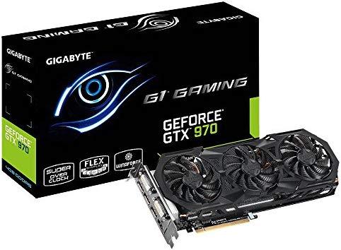 Gigabyte GeForce GTX 970 G1 Gaming GDDR5 Pcie Video Graphics Card, 4GB