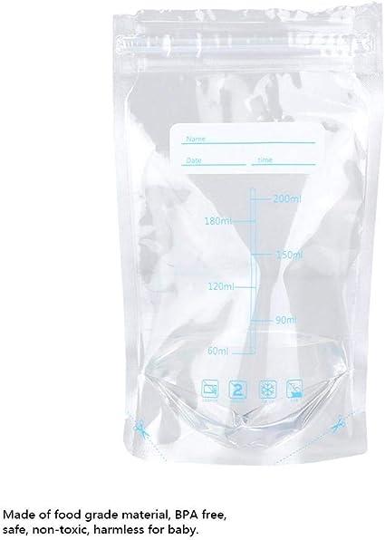 200 ml bolsas de leche materna Szlsl88 30 bolsas de almacenamiento de leche materna bolsas de leche materna a prueba de fugas