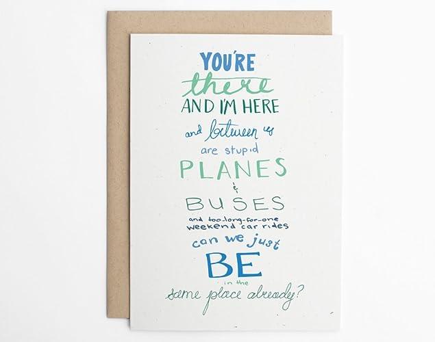 amazon com planes buses long distance relationship ldr card