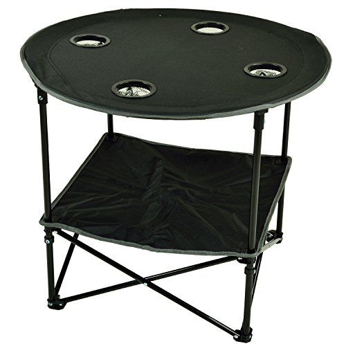 Picnic at Ascot 548-BLK Canvas Travel folding Table, Black