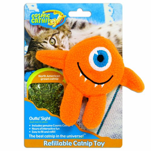 Cosmic Refillable Catnip Toy Cyclops, Outta Sight, My Pet Supplies