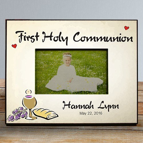 First Holy Communion Personalized Frame, Fits 4x6 photo