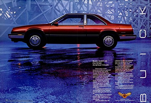"1986 BUICK LeSABRE COUPE ""...Redefines the Great American Coupe"" LARGE VINTAGE DOUBLE PAGE COLOR AD - USA - GREAT ORIGINAL !!"