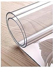 eettafel beschermer,Transparante tafelfilm, PVC-tafelkleed Transparant tafelkleed, waterdichte plastic tafelhoes Tafelkleedbeschermer, Heavy Duty keukentafelhoes, aanpasbare grootte(Color:1.0mm,Size:3