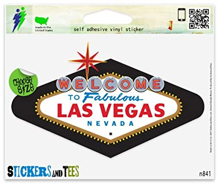Las vegas nevada vinyl car bumper window sticker 3