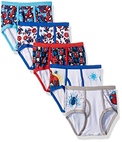 Marvel Big Boys' Spiderman Homecoming 5 Pack Brief, Spidy Multi, 6