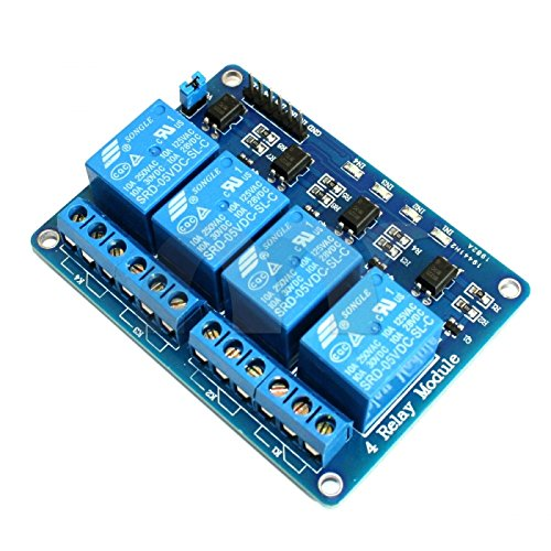 Raspberry PI 4-Channel Optic-Isolated Relay Module Low Trigger 3.3V//5V Arduino