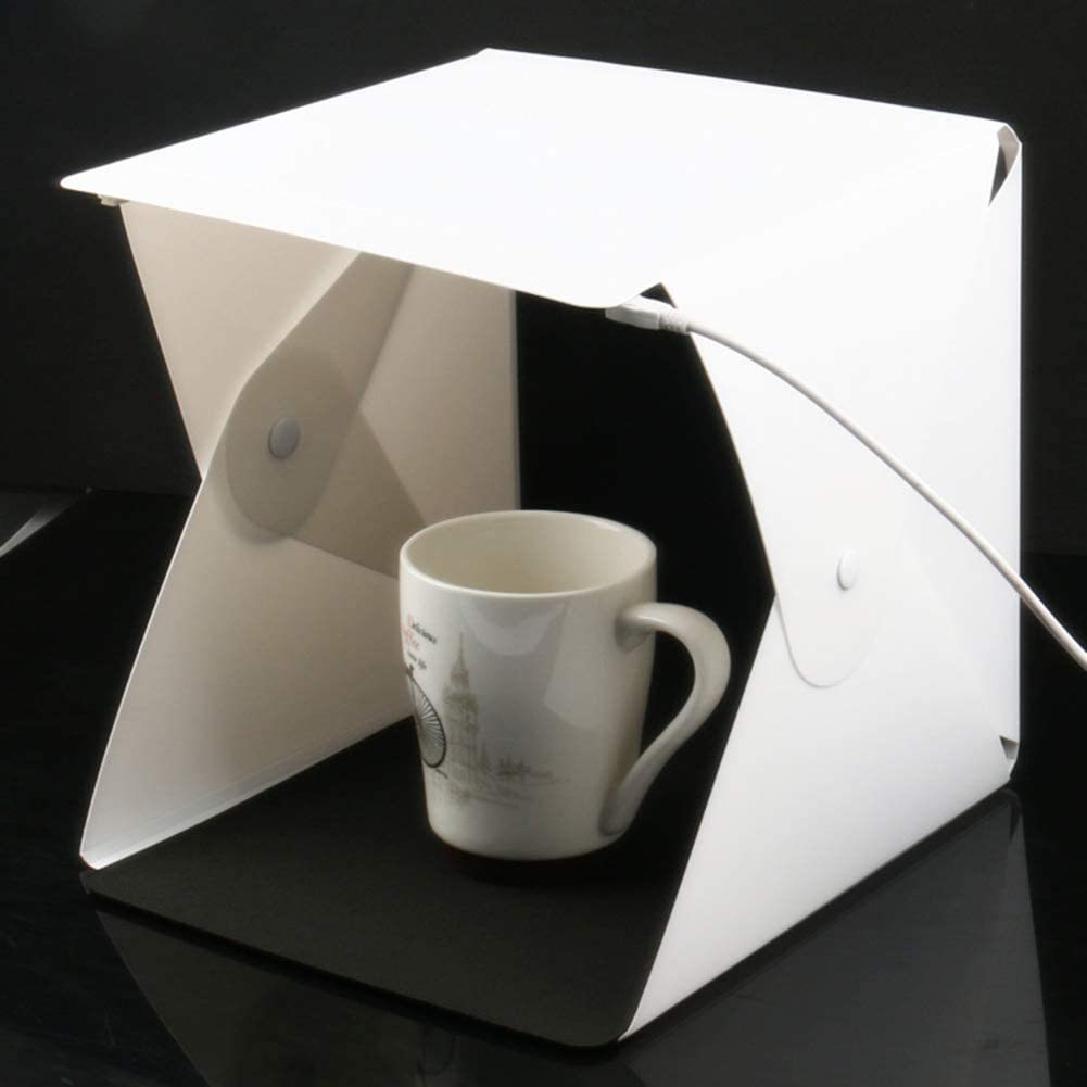 Adjustable Brightness 2 LED Lights and 6pcs Color Background,USB Data line Switch line SHENXIAOMING Portable Photo Studio Mini Foldable Shooting Tent Photography Light Box Kit with Top Hole