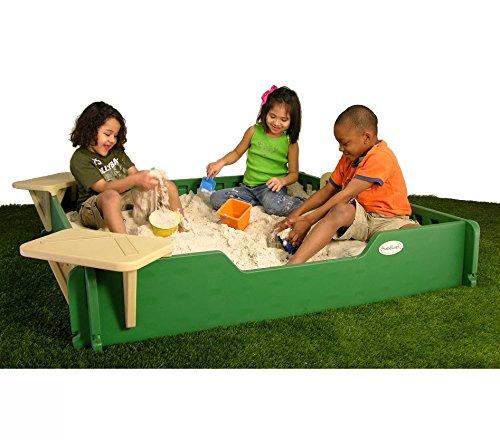 Apogee Life - Children's Style Backyard 5' Square Sandbox Wi