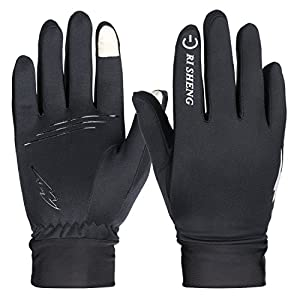 Winter Gloves, HiCool Touch Screen Gloves Thermal Cycling Gloves Driving Gloves for Men and Women (Black02, Large)