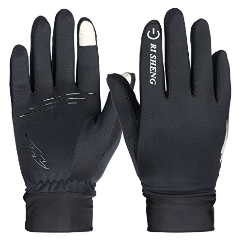 HiCool Winter Gloves, Touch Screen Gloves Thermal Cycling Gloves Driving Gloves for Men and Women (Black02, Medium)